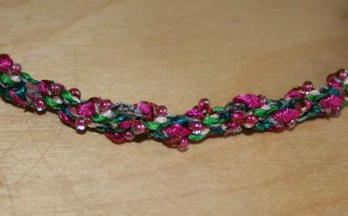 pink kumihimo braiding