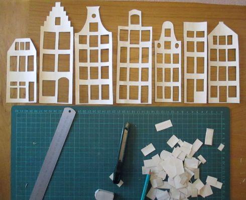 Amsterdam Buildings cut out - Nettynot Blog